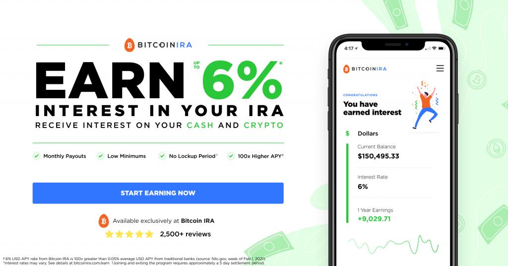 New Bitcoin IRA Earn