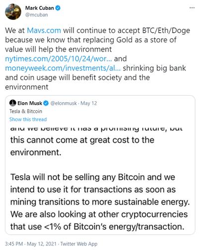 Mark Cuban Elon Musk Bitcoin